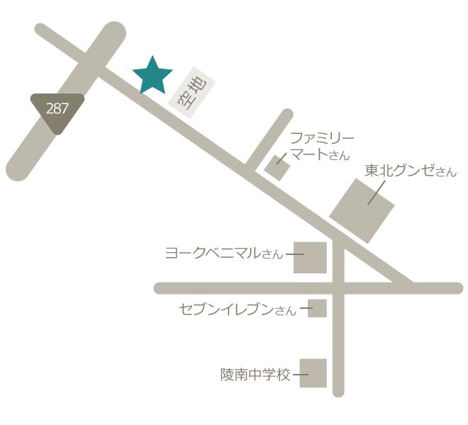 カイセイアクセスマップ